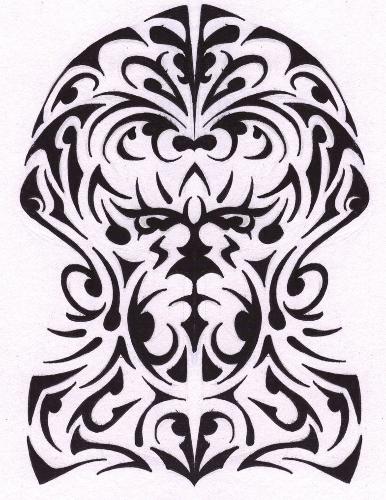 785x1018 Half Sleeve Tribal Tattoo (Cover Up Piece) By Pinsart
