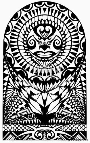 313x500 Polynesian Half Sleeve Tattoo Stock Image And Royalty Free Vector