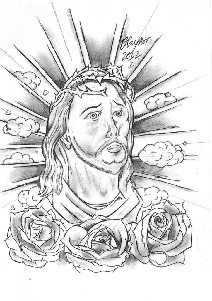 724x1024 Religious Tattoo Sketches Jesus Sleeve Tattoo Designs Fresh 2016