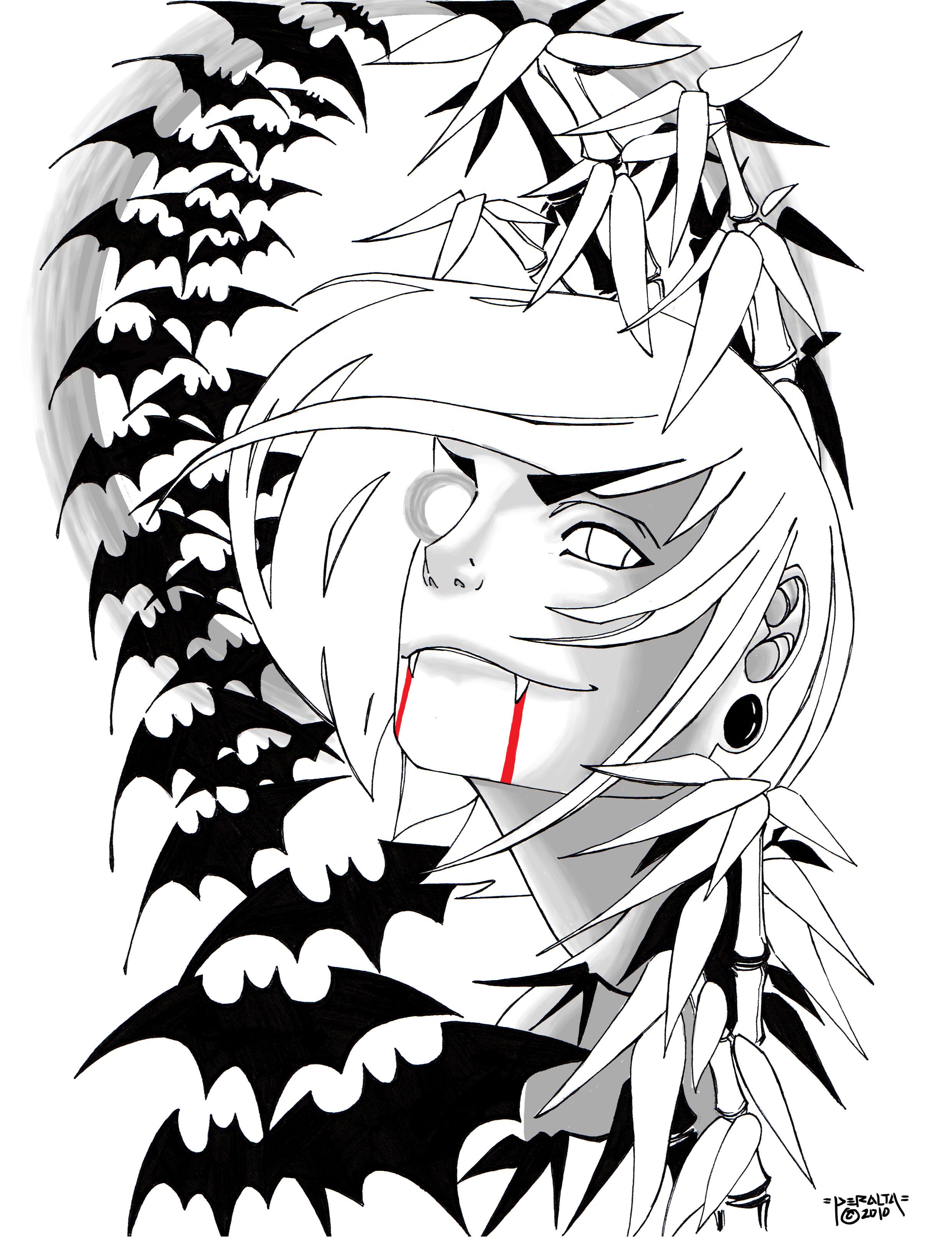 2480x3229 Vampire Half Sleeve Tatt By Hashbrown Tm