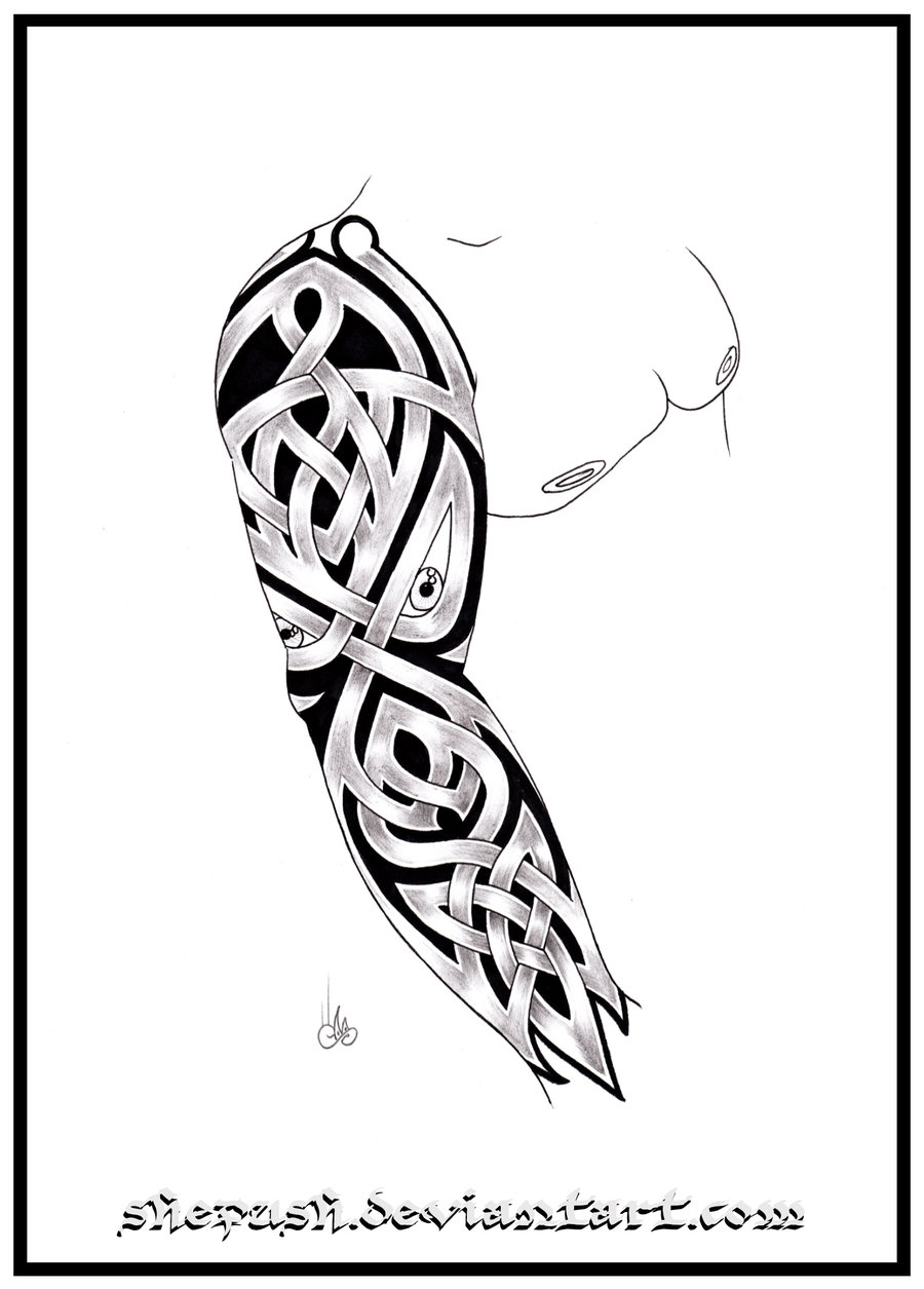 900x1255 Images Celtic Half Sleeve Tattoo Designs Drawings