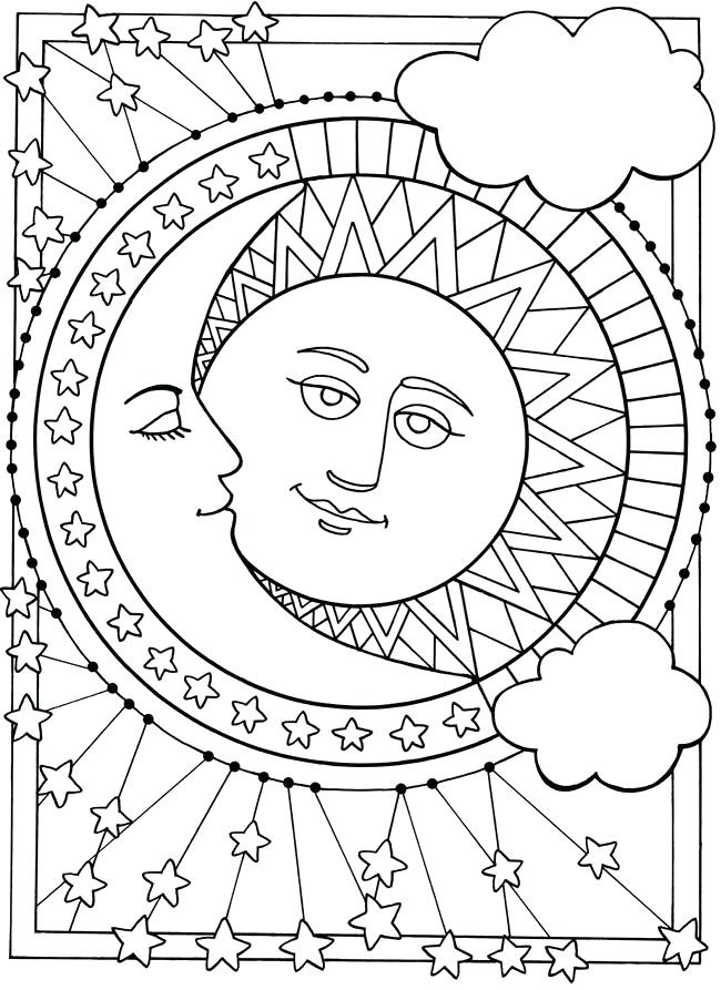 650x893 Here Are Moon Coloring Pages Pictures Pin By On Sun Moon Moon