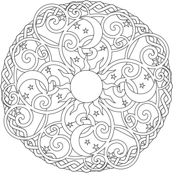 600x600 Moon Coloring Pages For Adults Coloring Page