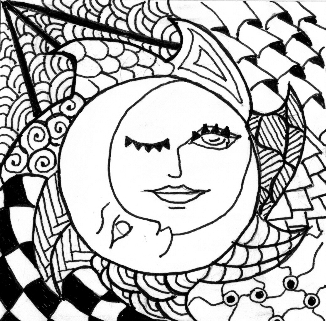 1039x1023 Sun And Moon Coloring Pages