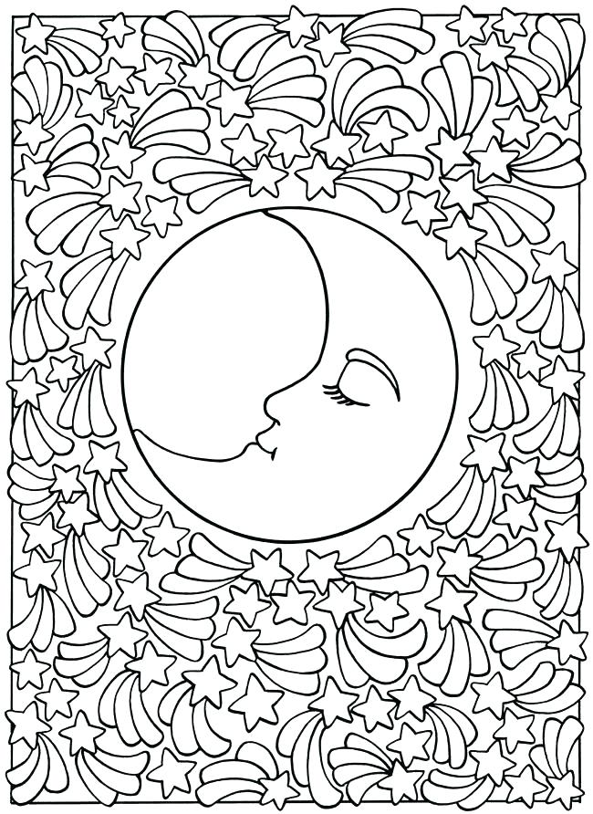 650x892 Crescent Moon Coloring Page