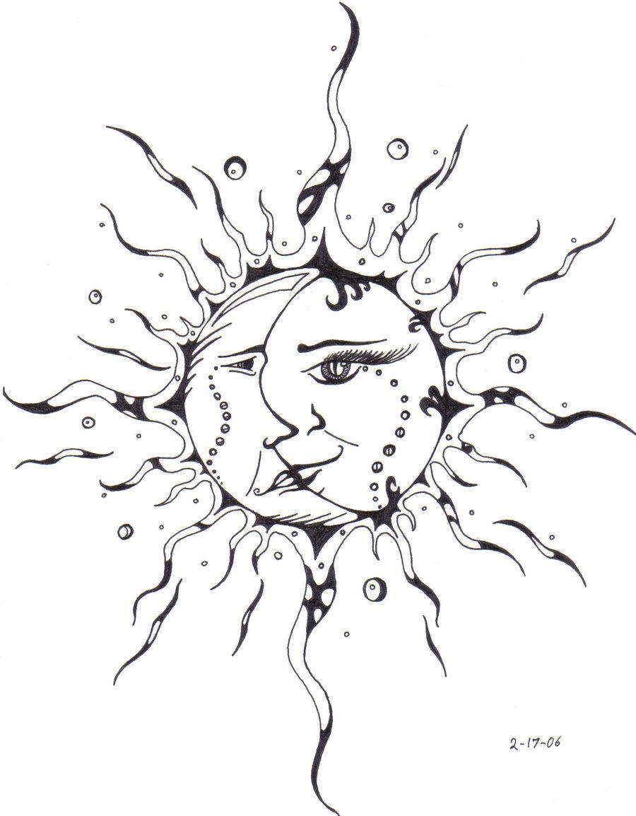 Diagram Half Sun Half Moon Drawing At Getdrawings