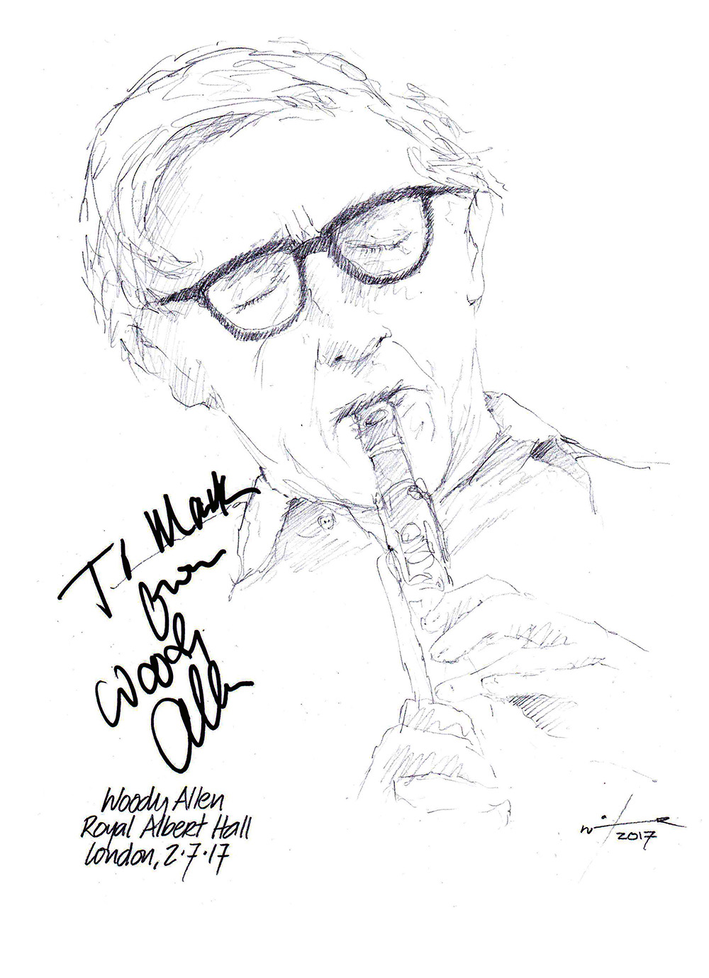 1000x1380 Drawing Woody Allen