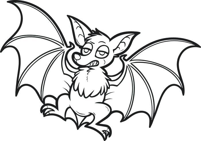 700x493 Halloween Bats Coloring Pages Free Printable Cartoon Bat Coloring