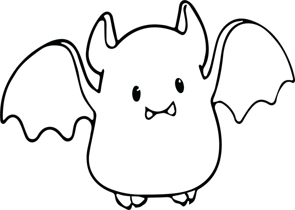 1024x728 Top Rated Bat Coloring Page Images Small Cute Baby Cartoon Vampire