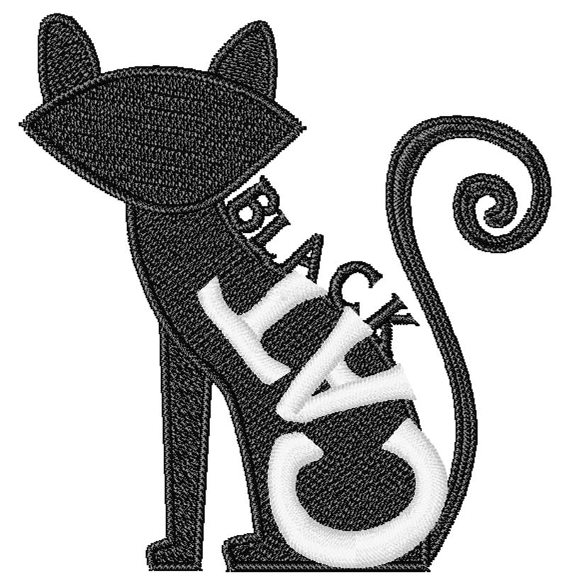 807x827 Halloween Black Cat Embroidery Design Annthegran
