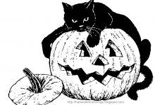 220x150 Halloween Coloring Pages Of Black Cats