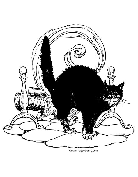 474x607 Vintage Halloween Coloring Pages