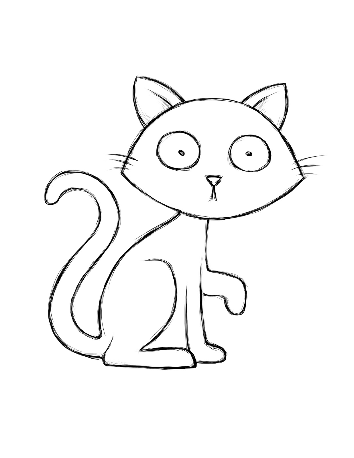 1236x1600 Cat Coloring Book Pages