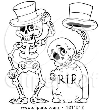 450x470 halloween skeleton drawing fun for christmas - Cartoon Halloween Drawings