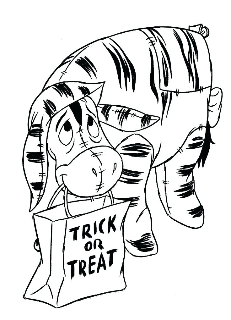 736x1018 Cartoon Halloween Coloring Pages Coloring Page Pooh And Cartoon