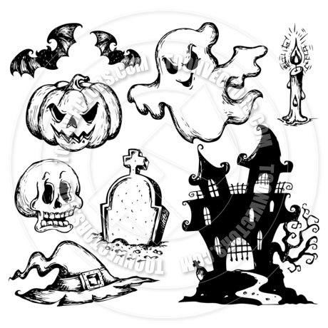 460x460 Cartoon Halloween Drawings Collection By Clairev Toon Vectors