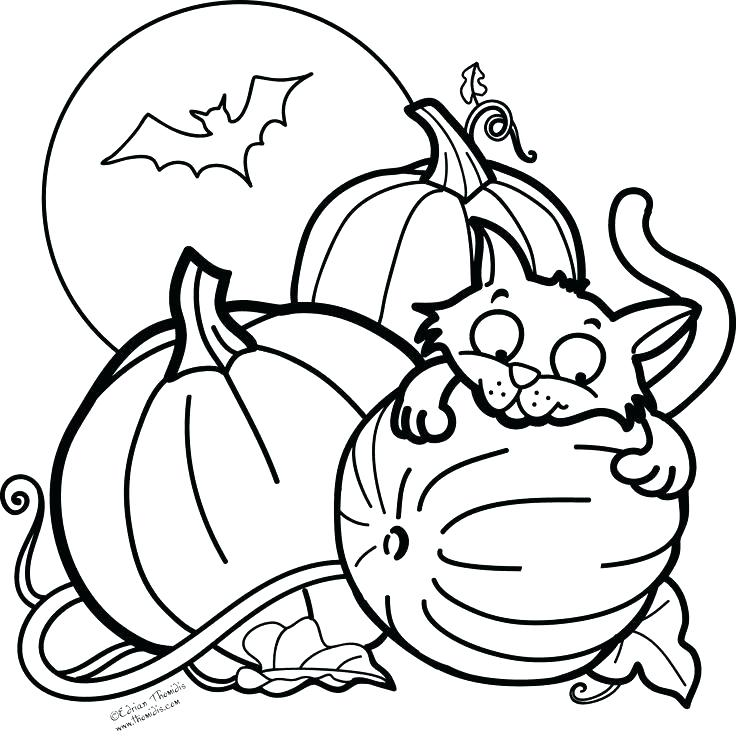 736x739 Cute Halloween Coloring Sheets Cute Coloring Pages For Sweet Draw