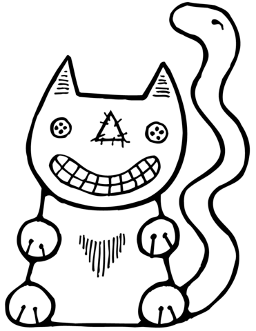 371x480 Halloween Cat Coloring Page Free Printable Coloring Pages