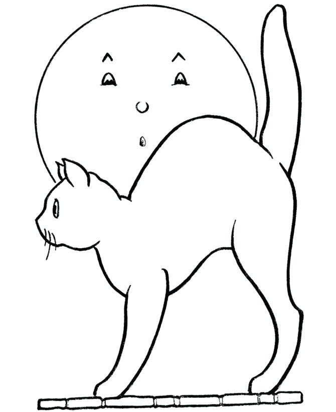 670x820 Halloween Cat Coloring Pages