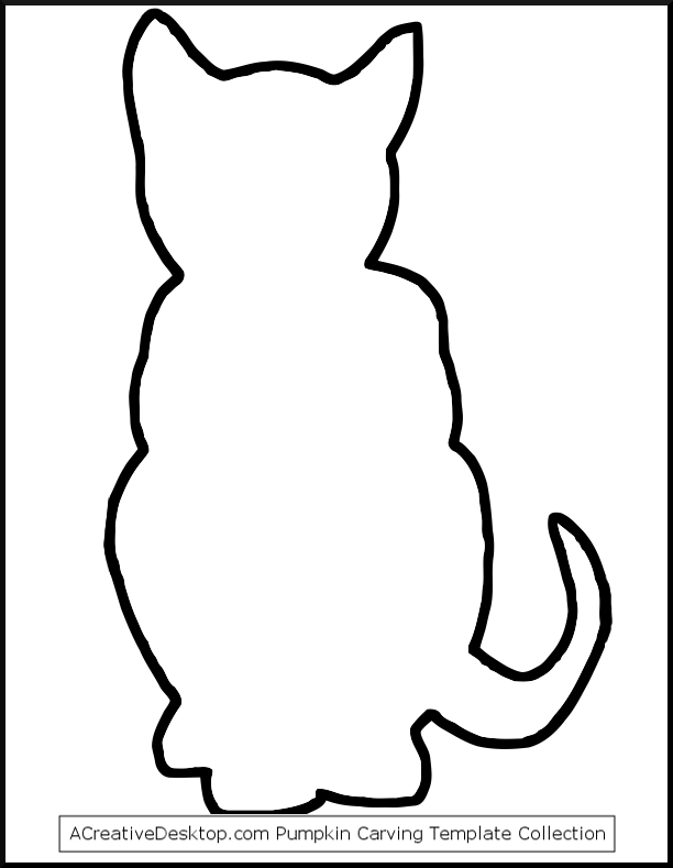 612x789 Printable Halloween Cat Patterns Free Cat Templates, Stencils