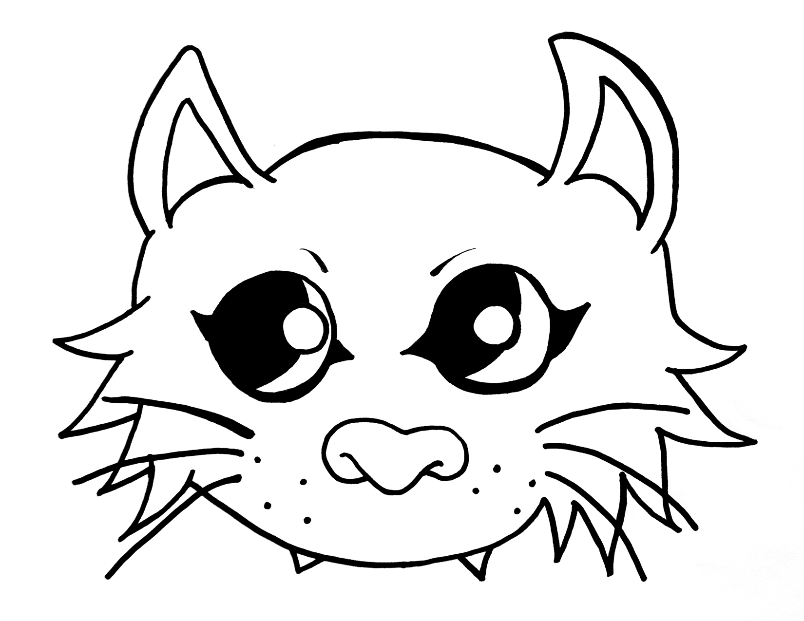 1650x1275 Cat Mask Drawing Cat Mask Eyes Drawings