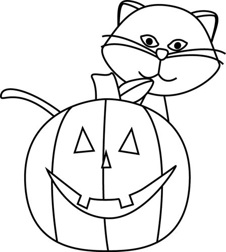 448x500 Cat Black And White Halloween Cat Clipart Black And White Festival