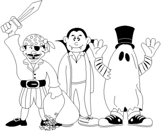 640x524 Halloween Costume Coloring Pages