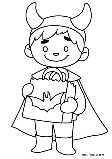 390x555 halloween costume coloring pages preschool halloween page - Coloring Halloween Pages