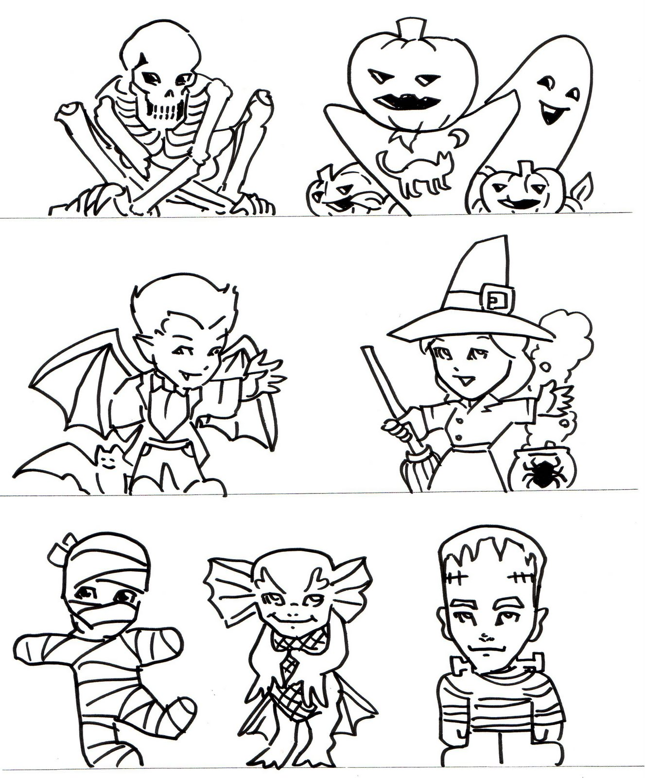 1327x1600 Kid Sketches Halloween And Fantasy Pop Up Diorama Cards