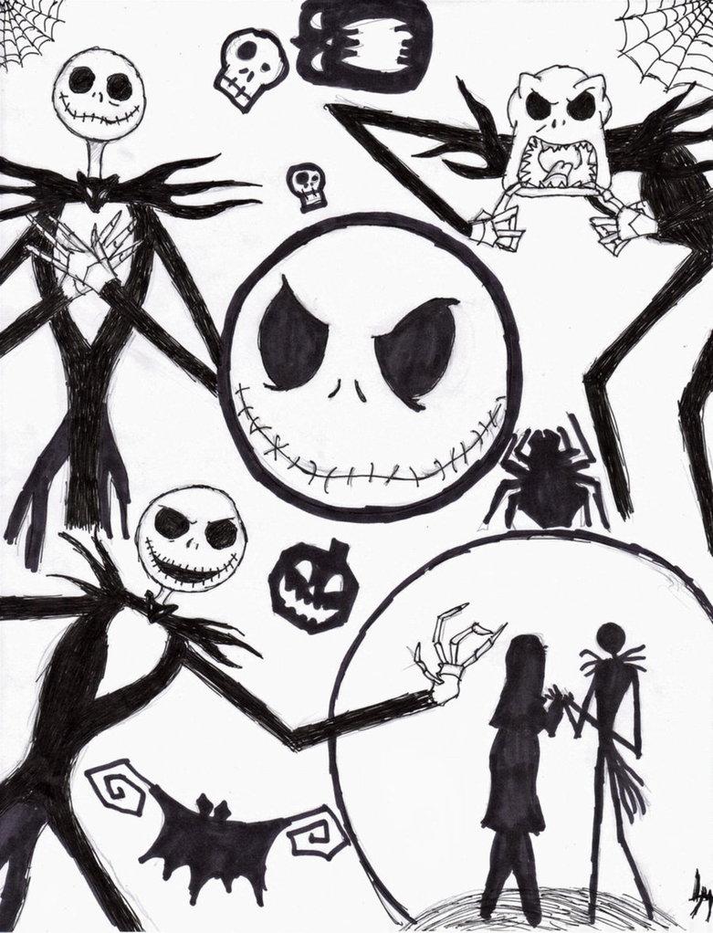 781x1022 Nightmare Before Christmas Characters Drawings