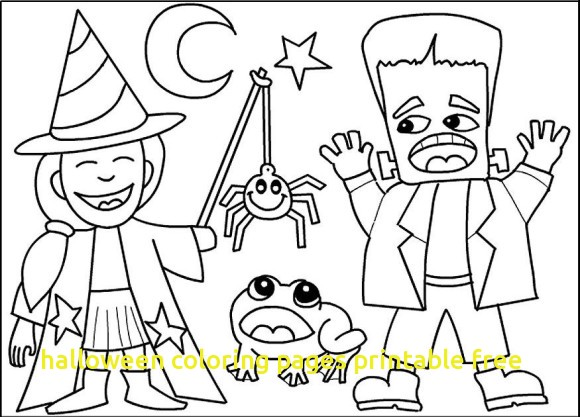 580x417 Halloween Coloring Pages Printable Free With Halloween Costume