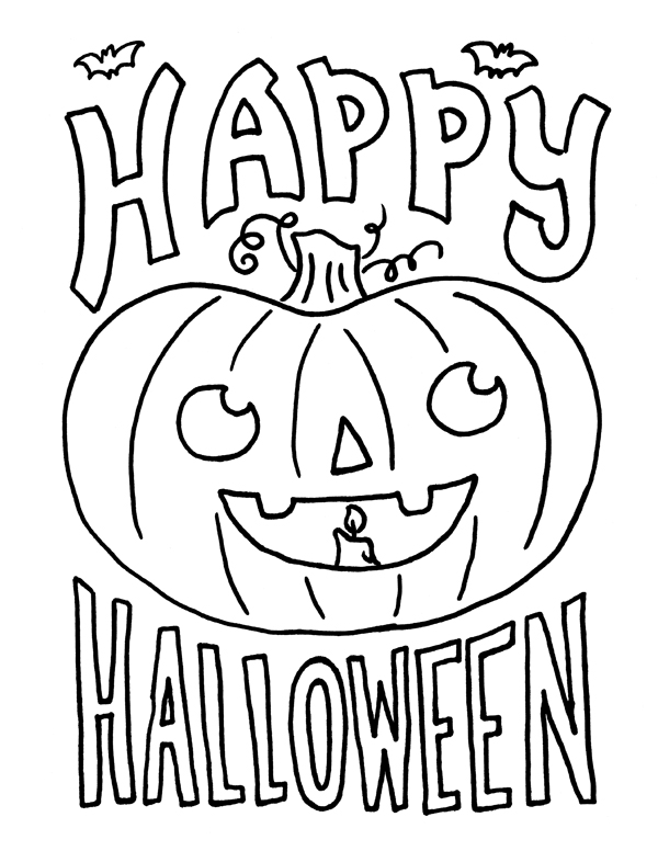 600x776 Happy Halloween Coloring Pages For Kids