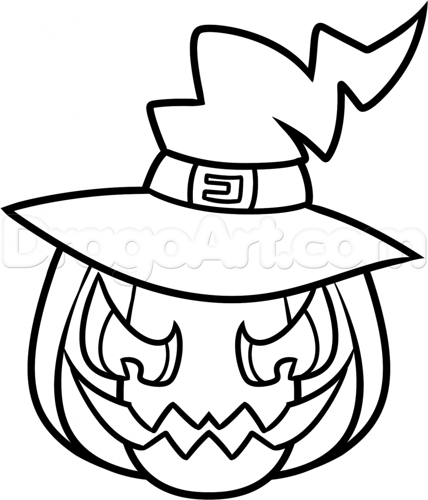 877x1024 easy halloween drawings how to draw a halloween dog halloween dog - Easy Halloween Drawings