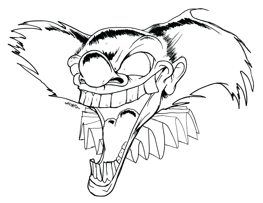 1100x850 Coloring Scary Clown Coloring Pages