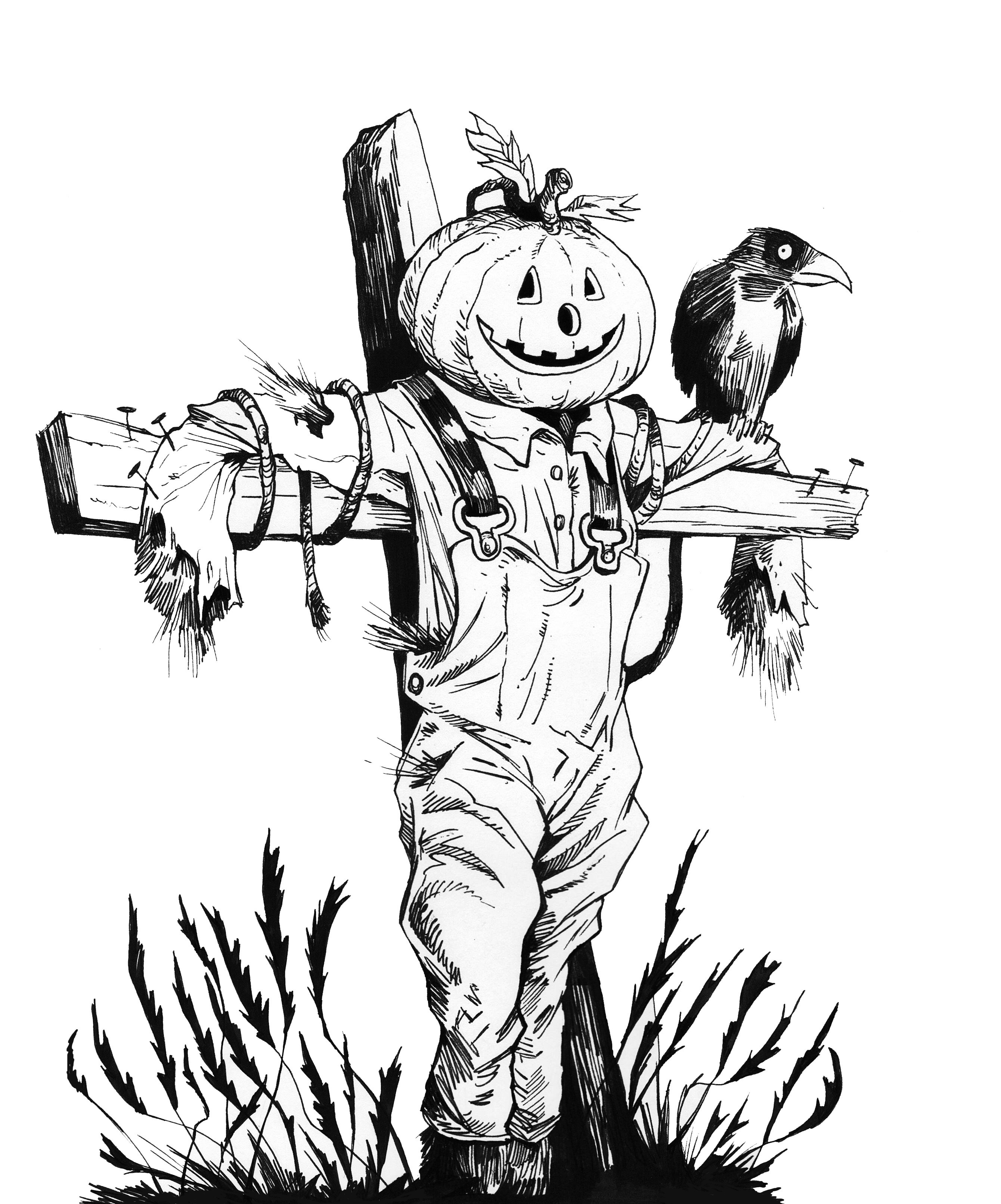 2680x3224 Halloween Craft, Clipart, Sketch, Drawing, Printable Card