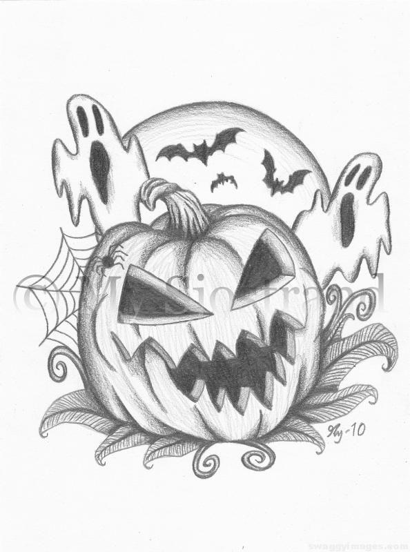 594x800 Halloween Images Drawing Swaggy Images