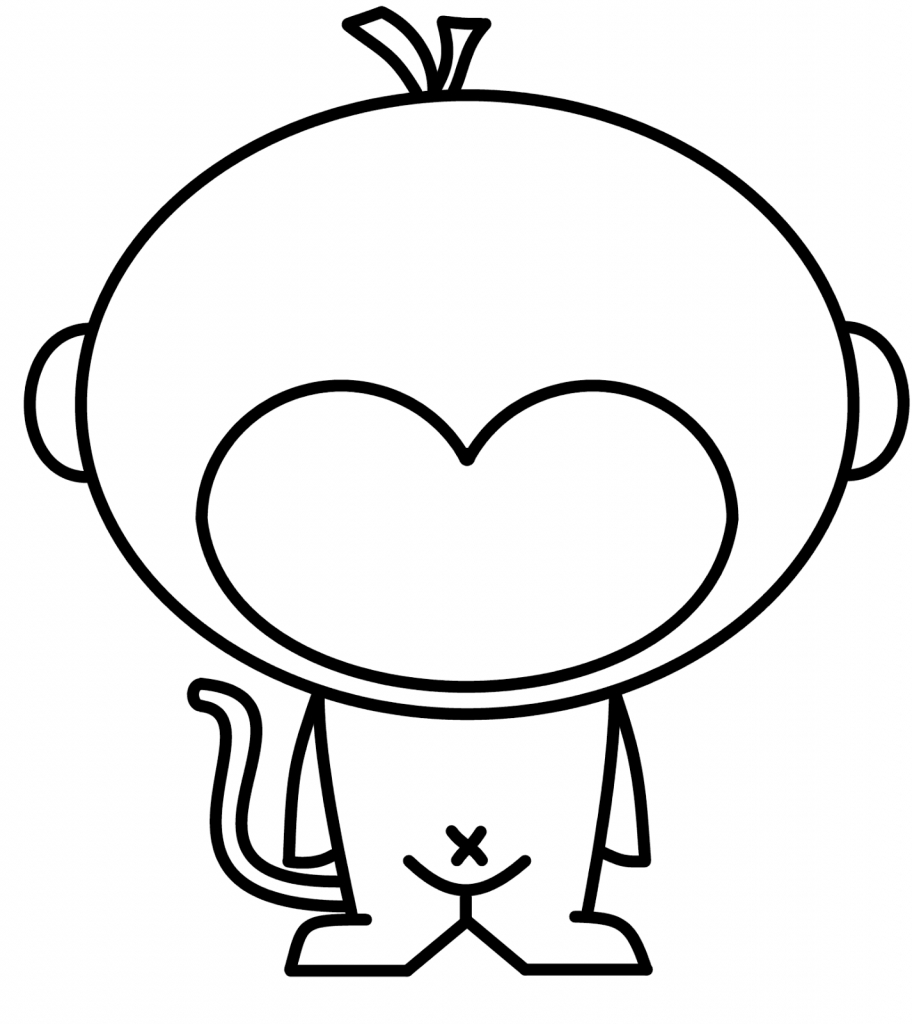 912x1024 Drawing Of A Monkey A Drawing Of A Monkey How To Draw A Halloween