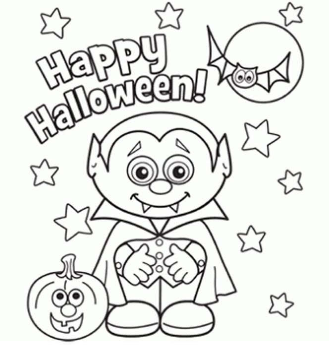 664x720 Halloween Coloring Pages Kindergarten In Cure Draw Paint