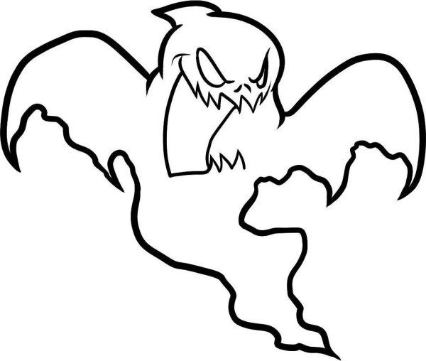 600x508 Halloween Coloring Pages Ghost
