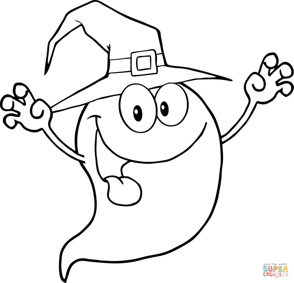 1123x1083 How To Draw Halloween Ghost Step By Step