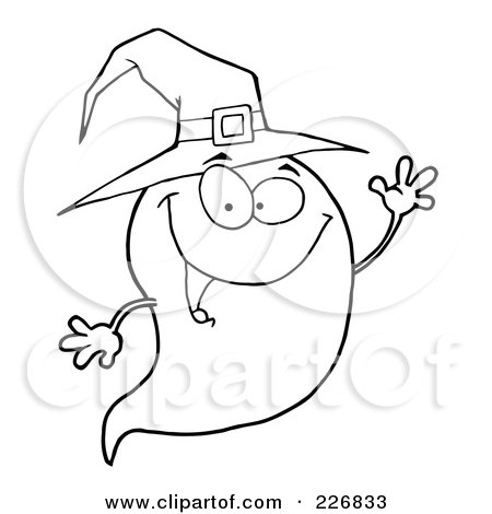 450x470 Royalty Free (Rf) Clipart Illustration Of A Cute Halloween Ghost