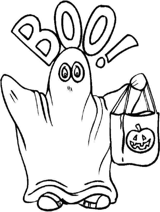 617x818 Coloring Pages Free Halloween Ghost