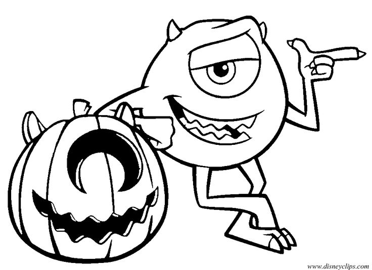 736x535 disney halloween coloring pages - Halloween Line Drawings