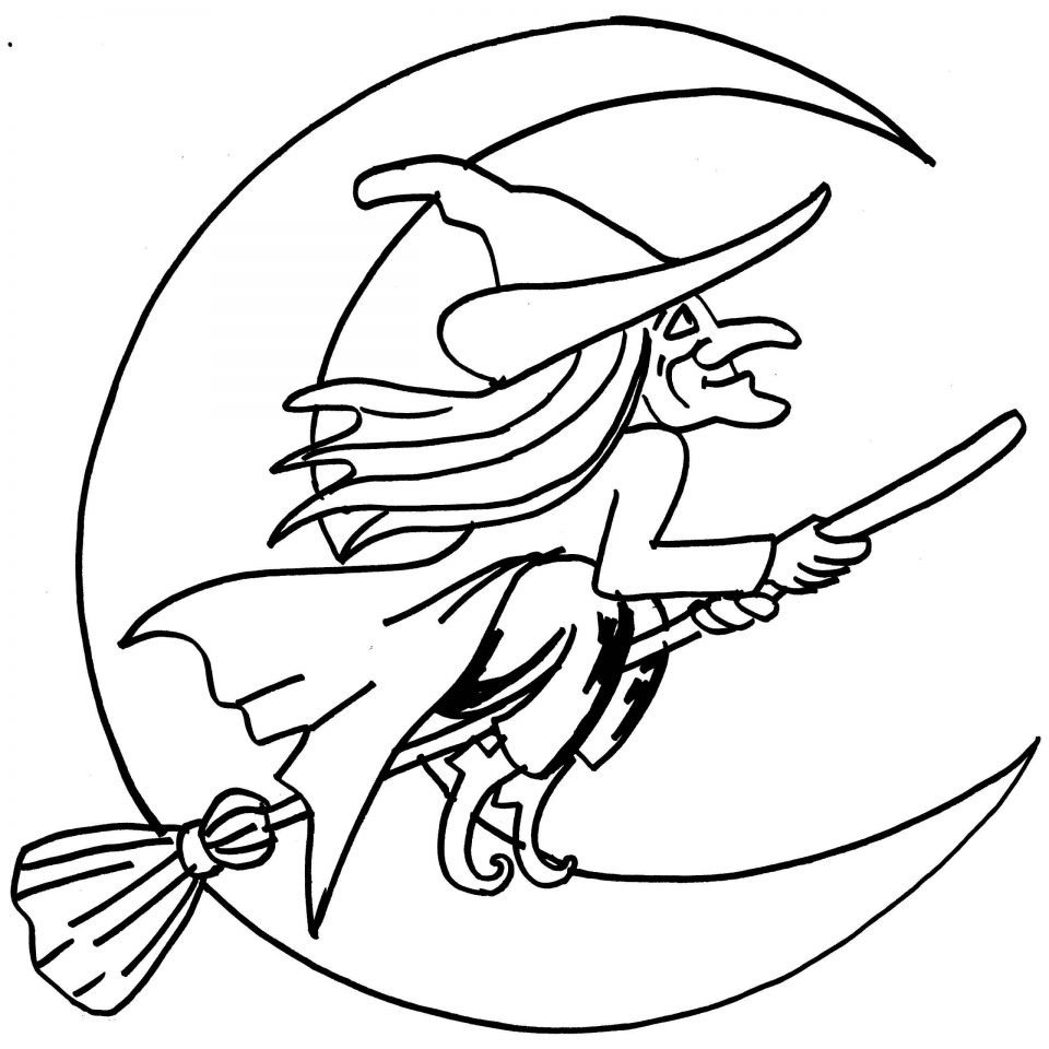 holloween moon coloring pages - photo#4