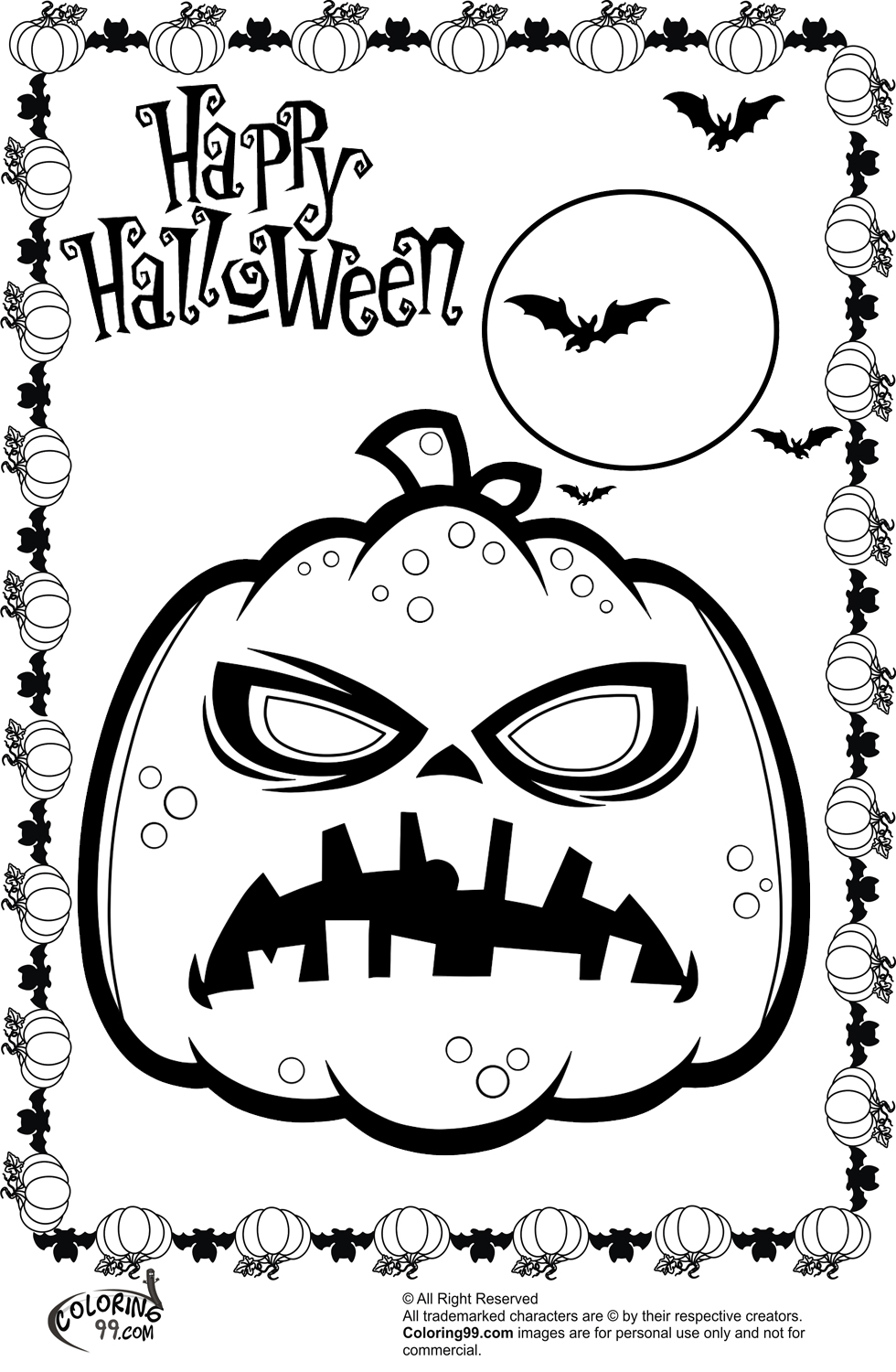 holloween moon coloring pages - photo#25