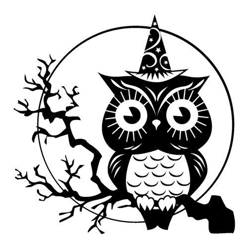 Halloween Owl Drawing