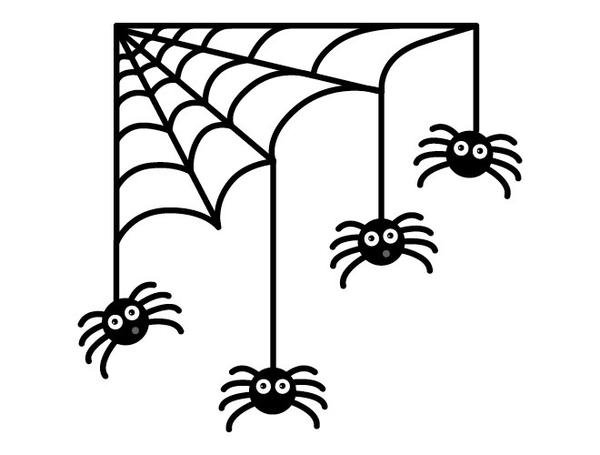 600x455 Halloween Spiders And Web Wall Decal Weedecor