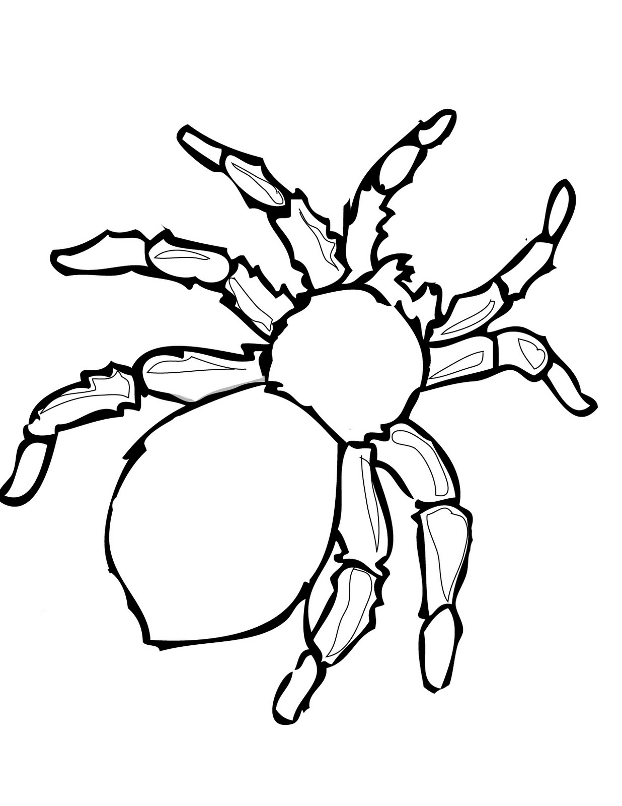 1236x1600 Printable Halloween Decoration Cutouts Spider Template, Spider