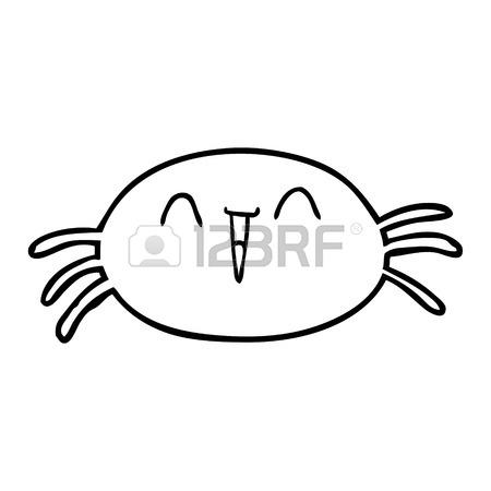 450x450 Cartoon Halloween Spider Vector Illustration Royalty Free Cliparts