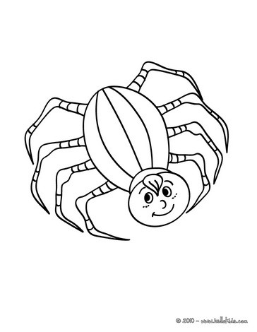 364x470 Spider Coloring Pages